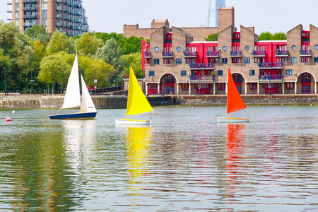 Dockside apartments at Shadwell Basin, providing space for summer activities in London