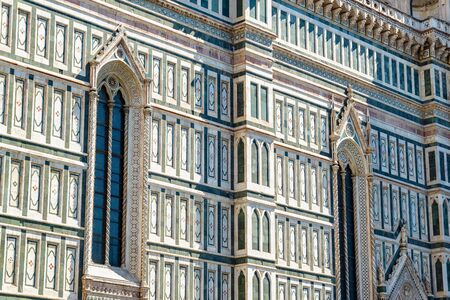 Exterior of the Cattedrale di Santa Maria del Fiore (Cathedral of Saint Mary of the Flower) in Florence, Italy