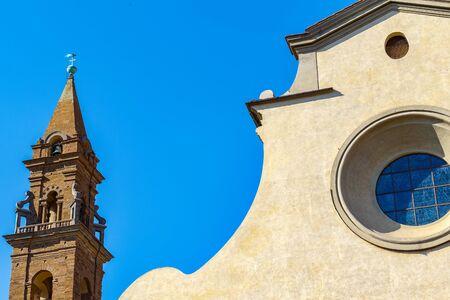 Exterior of Santo Spirito, a church located in the Oltrarno quarter in Florence, Italy