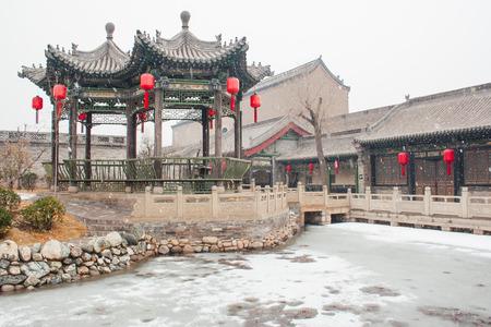 chinese old style pavilion photo