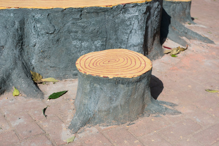 Artificial Tree Stump Chair Stock Photo   35344546