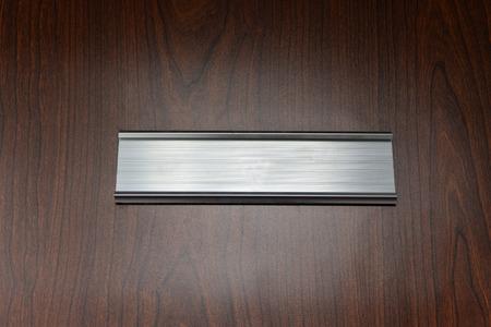 old office: door plate