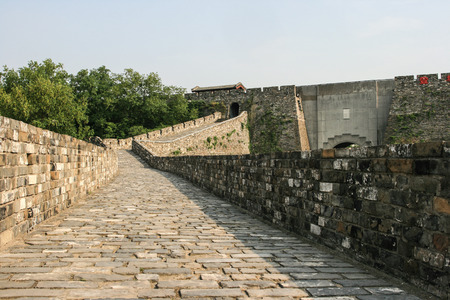 top of an old city wall in Nanjing