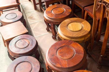 mahogany: mahogany wood chairs Stock Photo