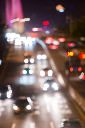 night traffic: blurred night traffic scene