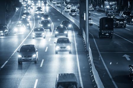 night traffic: Guangzhou night traffic