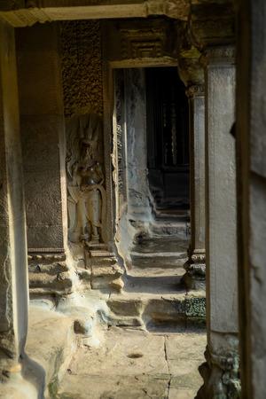 apsara: corridor with apsara carving