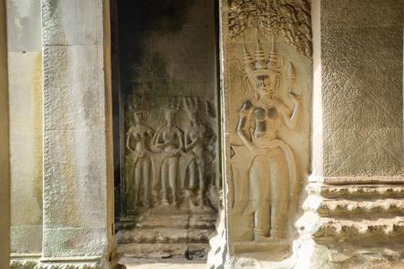 apsara: column with apsara carving