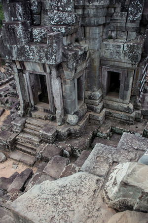 angkor thom: part of a temple ruin in Angkor Thom