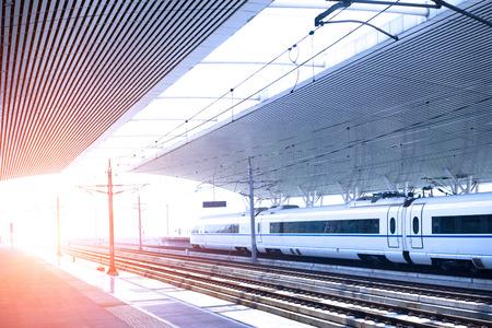 high speed railway platform 免版税图像