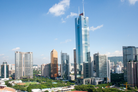 central business district of Guangzhou city