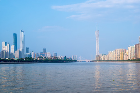 axis: skyline of Guangzhou, around the central axis