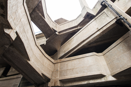concrete structure: interior structure of an old slaughterhouse
