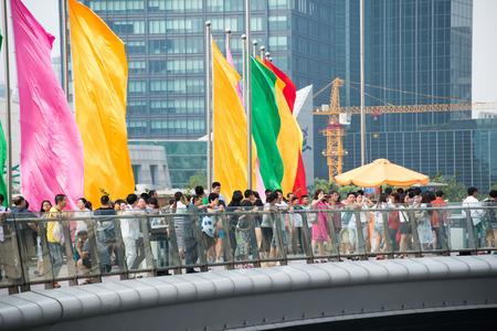 overbridge: travellers on the bridge