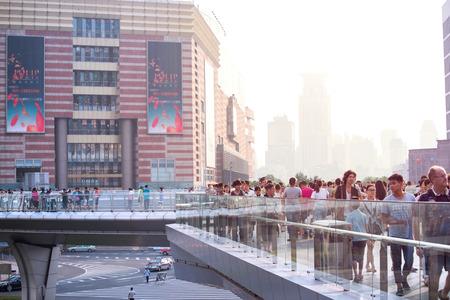 overbridge: over bridge in Lujiazui, Shanghai
