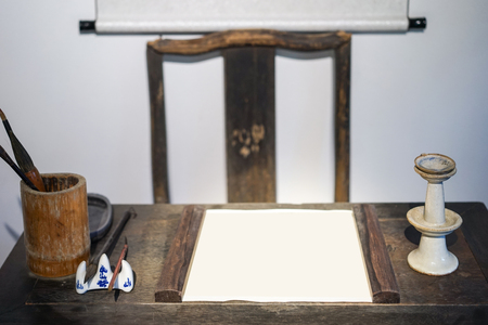 old furniture: old study equipments and furniture