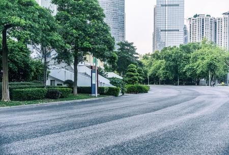 urban road: asphalt road in a park
