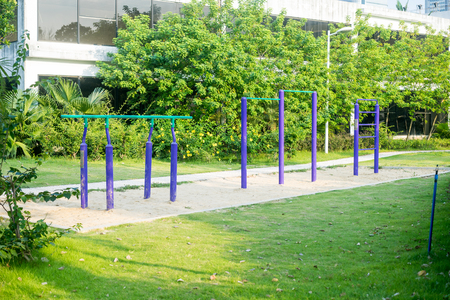 facilities: exercise facilities in a park