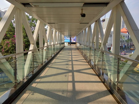 pedestrian bridge: Pedestrian bridge