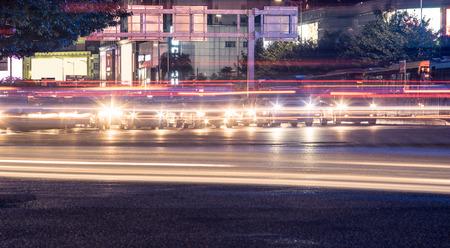 slow motion: slow motion of urban traffic scene Stock Photo