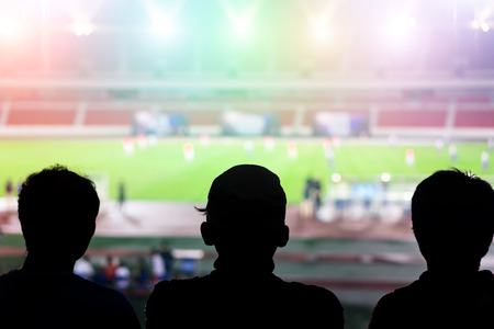 watching football: watching football game Stock Photo