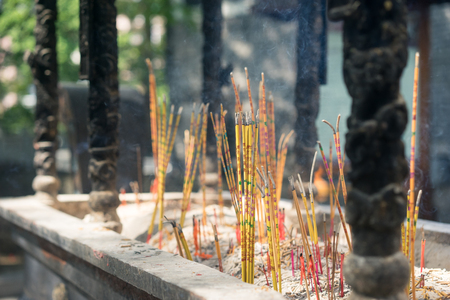 Incense: incense in the temple Stock Photo
