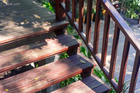 worn structure: wooden stair