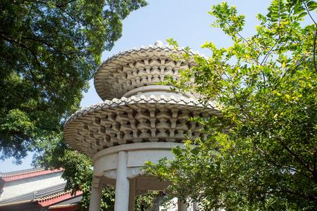 upper: upper structure of a pavilion