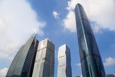 guangzhou china nov 22 2015 modern buildings modern buildings