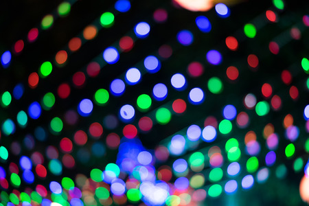 light chains: blurred lights background