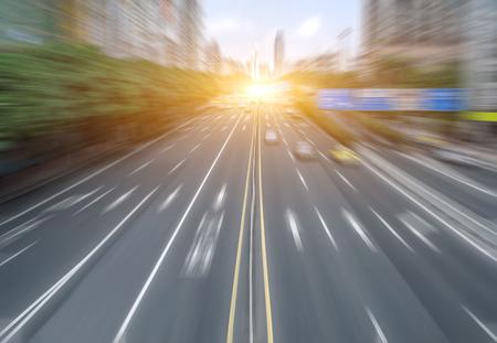 blurred city road background 免版税图像