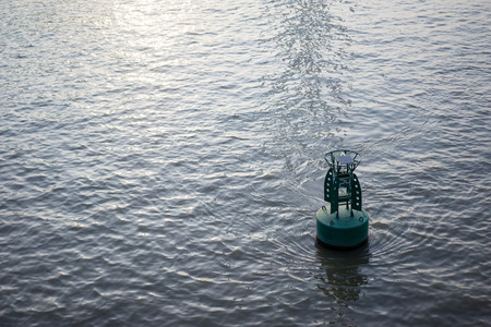 buoy: buoy on the river