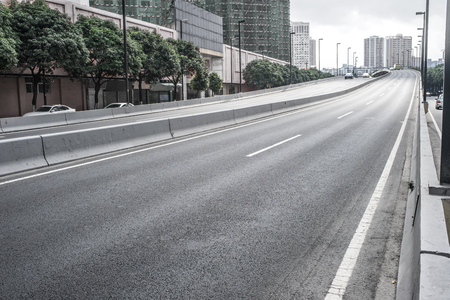 highway road scene Stock Photo