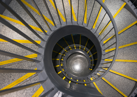 golden section: spiral stairs Stock Photo