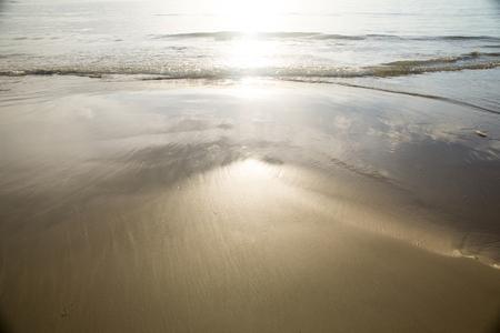 sunlight reflect on the beach Stock Photo