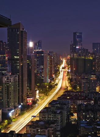 night traffic: city night traffic Stock Photo