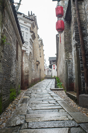 alley: chinese alley Stock Photo