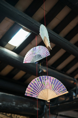 paper fan: paper Fan decoration