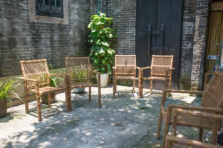 furniture: bamboo furniture