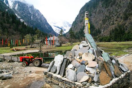 mani: the Mani stones in Yubeng village