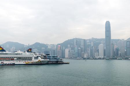 Dec. 3, 2016-Hong Kong: Ships parking in the Victoria Bay. 新闻类图片