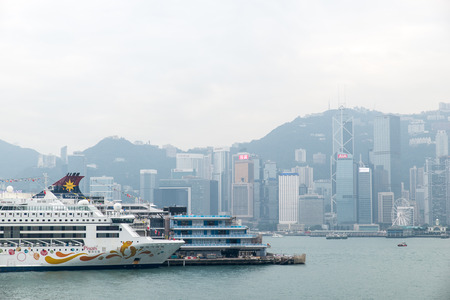 Dec. 3, 2016-Hong Kong: Ships parking in the Victoria Bay. Editorial