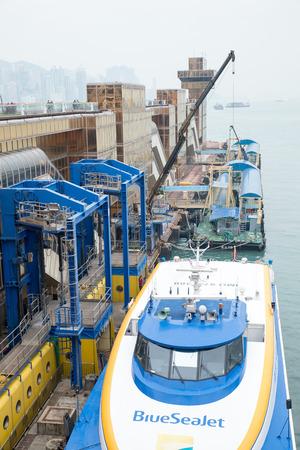 Dec. 3, 2016-Hong Kong: Ships in the ferry.