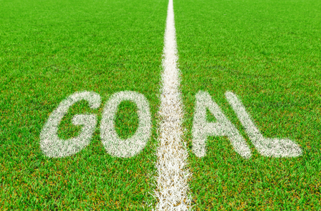 goal text on the football pitch