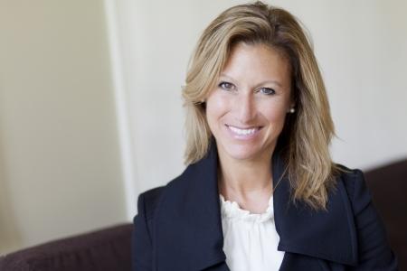 Pretty Confident Businesswoman Smiling