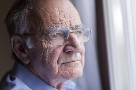 one senior man only: Lonely senior man