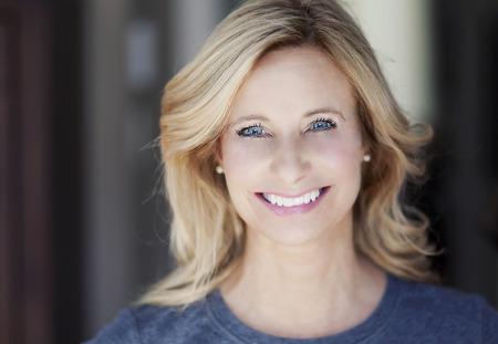 Portrait Of A Mature woman smiling Standard-Bild