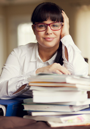 only adult: Adult Woman Working Stock Photo
