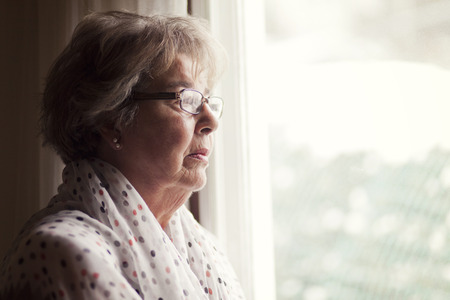 alzheimer: Depression Of A Senior Woman Stock Photo