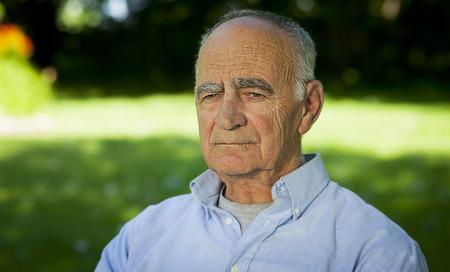 80 plus adult: Senior Man Solitude
